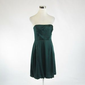 Teal green BANANA REPUBLIC strapless bubble dress4